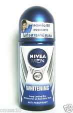 NIVEA For MEN Whitening 48h Dry Antiperspirant Deodorant Roll On 50ml.