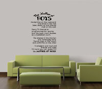 "THE MOTHER OF BOYS 34"" FAMILY QUOTE VINYL HOME DECOR WORDS DECAL WALL LETTERING"