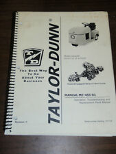 Taylor-Dunn Vehicle Troubleshooting Replacements Parts Manual E0-455-24