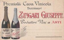 A2375) VINO, CASA VINICOLA ZINGARI GIUSEPPE PRODUTTORI VINI, ASTI.