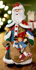 Bucilla Patchwork Santa ~ Felt 3D Christmas Home Decor Kit #86206, Factory New
