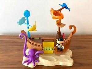 Octonauts Kwazii's Calico Jack Shipwreck Pirate Ship Playset COMPLETE SET, no SG