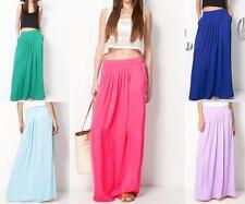 Polyester Full-Length Summer/Beach Solid Dresses for Women