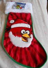 """ANGRY BIRDS RED BIRD SANTA CLAUS CHRISTMAS STOCKING 18 1/2"""""""