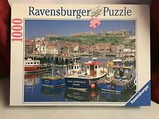 RAVENSBURGER 1000 PIECE 'WHITBY ABBEY AND HARBOUR YORKSHIRE' JIGSAW