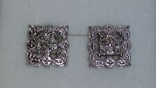 *VINTAGE* Kim's Jewelers Sterling Silver Diamond Earrings