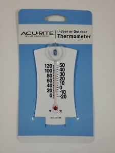 Acurite Indoor or Outdoor Thermometer Window Suction / Wall Mount NEW