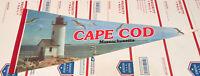 Vintage Cape Cod Massachusetts Pennant