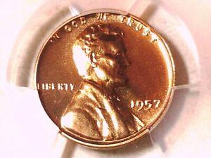 1957 Lincoln Wheat Cent PCGS PR 68 RD 39338888