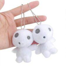 "Studio Ghibli Princess Mononoke Keyring Tree Spirit Plush Toys Doll Keychain 4"""