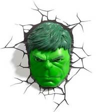 Marvel AVENGERS Incredible HULK  FACE / HEAD 3D Art Deco Wall LED Night Light FX