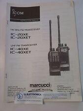 MANUALE IN ITALIANO istruzioni d'uso per ICOM IC-2GXE