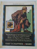 1929 Hart Schaffner & Marx mens Alaskan Argonaut fleece Overcoat coat vintage ad