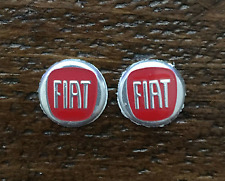 2pcs 15mm Fiat Red Replacement Key Fob Sticker Badge Car Key Emblem Logo