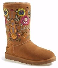 UGG Australia Juliette Suede Lined Chestnut Boot Size 6 New In Box $200
