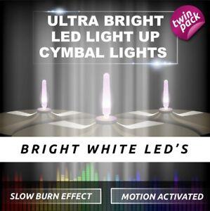 LIGHTENING BOLTZ- MEGA BRIGHT WHITE LIGHT UP CYMBAL LIGHT VIBRATION SENSITIVE