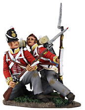 BRITAINS 36130 NAPOLEONIC BRITISH DIE HARD 44th FOOT KNEELING & WOUNDED WATERLOO