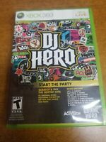 DJ Hero (Microsoft Xbox 360, 2009)(Game only)(Tested)