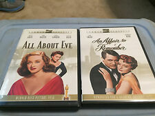 All About Eve (Dvd, 2003, Studio Classics) And Affair To Remember Dvd Lot Great