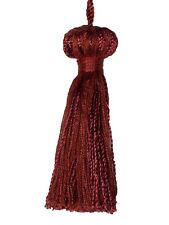 "Conso Princess II Collection 22051 K33 CRIMSON Decorative Bell 3"" Tassel 3"" Loop"
