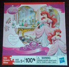 "Puzzle-Hasbro Disney Princess Heart Shaped of Ariel-100 Pieces-13""x13"" **NEW***."