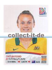 Panini Frauen WM World Cup 2015  - Sticker 277 - Caitlin Foord