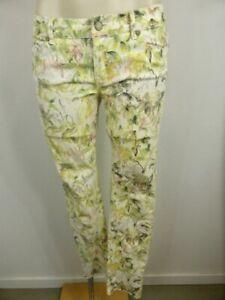 INSIGHT DENIM pretty green white Yellow Floral Skinny jeans sz 6 8   FREE POST!