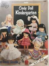 Crochet Doll Clothes Pattern Cindy Doll Kindergarten Fits 6 3/4 Dolls ASN 1187