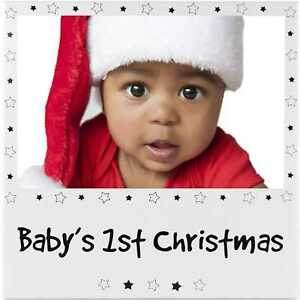 Baby's First Christmas Silver colour Picture Photo Frame Novelty Gifts 1st Xmas