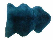 100% Genuine Sheepskin Rug - Teal Produced in Devon