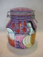 """Ciao Italya By Bellini Hand Painted In Italy Canister Jar, 7"""" Tall X 6 1/2"""" Wide"""