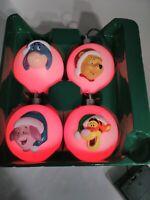 2004 Gemmy - Disney - Pooh and Pals Color Changing Light Ornament Set
