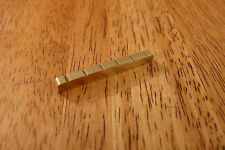 BRASS GUITAR NUT 43MM SLOTTED FOR STRATOCASTER TELECASTER