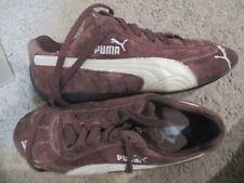 PUMA brown suede logo sneakers shoes sz 8.5