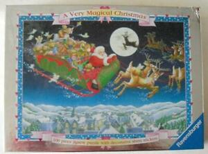 Lovely Ravensburger jigsaw 100 large pieces A Very Magical Christmas for Age 5+