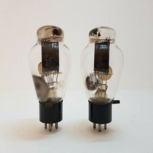 RCA Radiotron Type 50 röhre VT-50 UX250 NU-50,matched pair,early type rare tubes