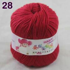 Sale 1ball 50g Baby Cashmere Silk Wool Children hand knitting Yarn 28 Really Red