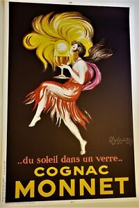 Leonetto CAPPIELLO Huge SIGNED Real Stone LITHOGRAPH Limited Edition COGNAC