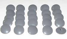 LEGO LOT OF 20 NEW DARK BLUISH GREY ROUNDED CASTLE KNIGHT SHIELDS PIECES