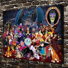 Disney villains Paintings HD Print on Canvas Home Decor Wall Art Picture posters