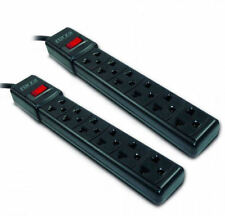 2 PACK Forza Power Strip 120 220v 6 Outlet 3ft Cable Circuit Breaker Protector