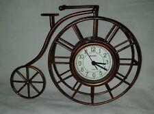 Fantastic Bulova Quartz Mantle Clock Set in a Penny-Farthing Bicycle Wheel.