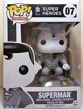 Funko Pop Superman Black & White Edition # 07 Super Heroes Vinyl Figure
