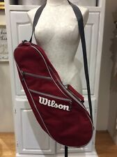 Wilson Bag Tennis Racket Zipper Compartments Strap Burnt Red NEW