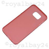 Extra dünne Silikon-Hülle für Samsung Galaxy S6 Edge rot TPU Case Tasche NEU WoW