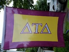 Delta Tau Delta Gold And Purple Flag 2 By 3 Foot Sorority Fraternity