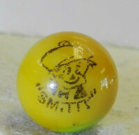 #10897m Vintage Peltier Smitty Comic Picture Marble .66 Inches