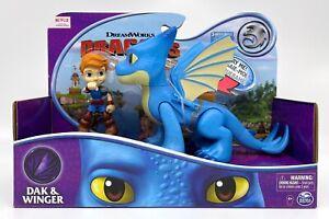 2020 NETFLIX Dragons Rescue Riders DAK & WINGER Figures w/ Sound Dreamworks NEW