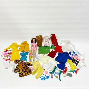 Vintage Barbie Maddie Mod Clone Doll Mixed Lot of Clothes Accessories 1968 B1