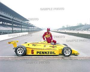 RICK MEARS 1984 INDY 500 WINNER AUTO RACING 8X10 PHOTO #2
